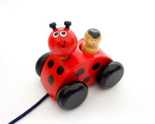 Mommy Ladybird (with black wheels)