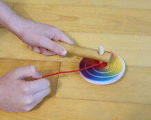 Super colorful spinning top