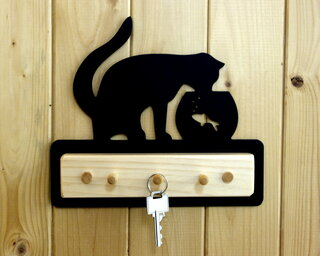 Cat and Fish Key Holder