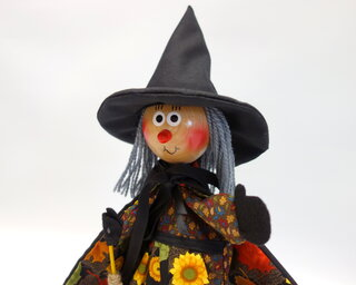 Autumn Leaves Witch