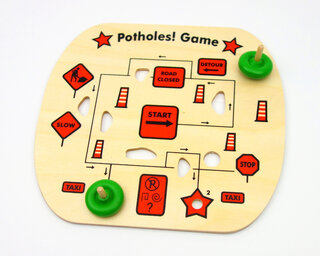 Potholes! Game, 2 spinning tops