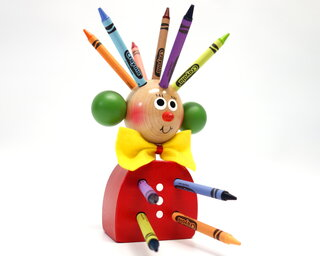 Mr. Pencil holder (red)